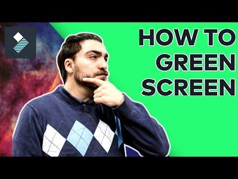 How To Use a Green Screen | Filmora Tutorial