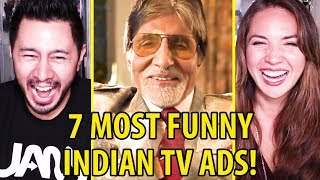 7 MOST FUNNY INDIAN TV ADS | Reaction by Jaby Koay & Miriam Macip!