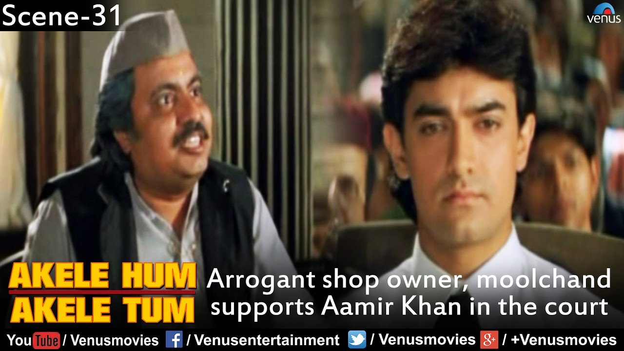 Arrogant Shop arrogant shop owner, moolchand supports aamir khan in the court