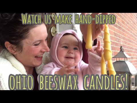 Hand-Dipped Ohio Beeswax Candles | Watch us Make Them