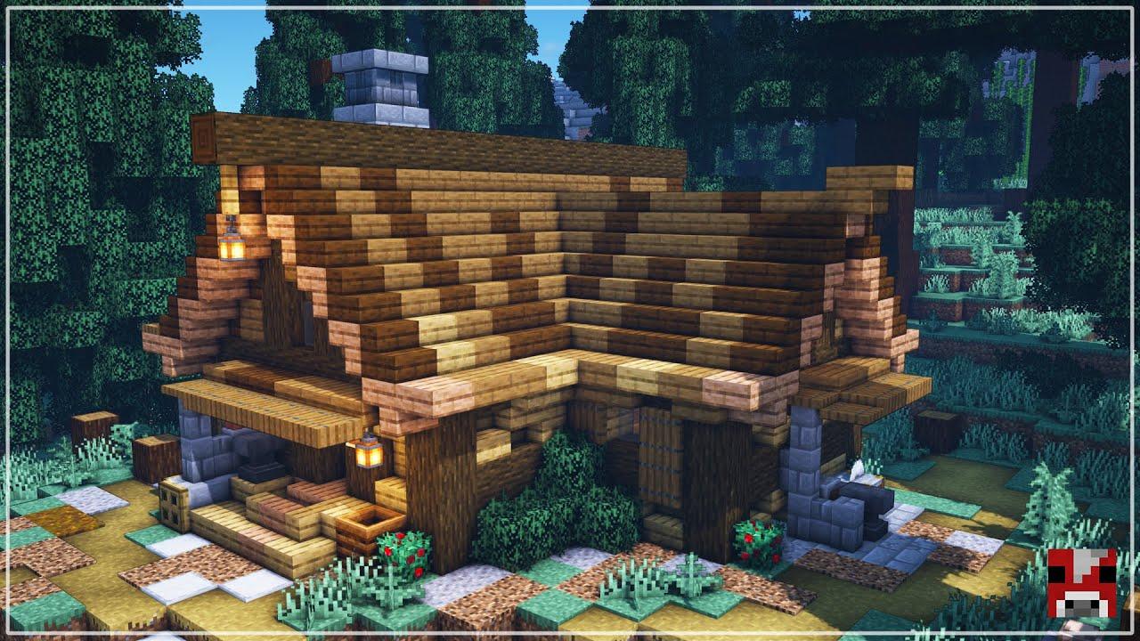Survival Log Cabin Base | Minecraft Timelapse | World Download