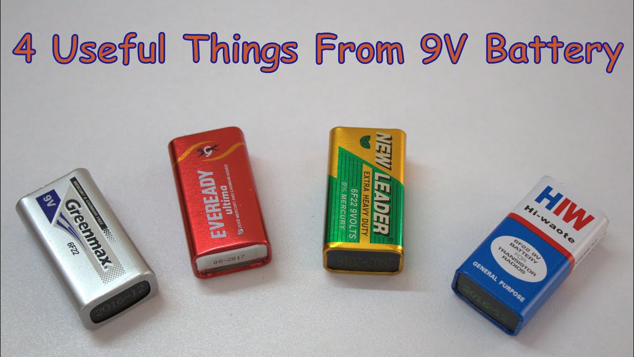 4 useful things from 9v battery youtube