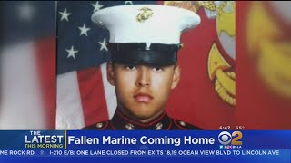 Fallen Marine's Body Comes Back To SoCal