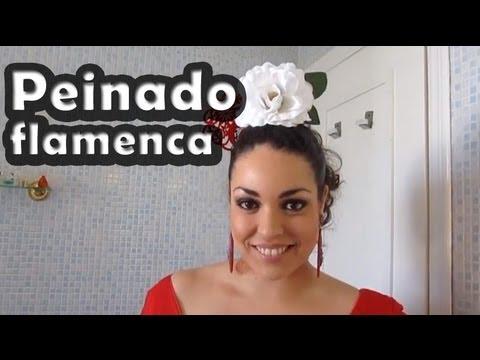 peinado de flamenca, flor y peineta - pretty and olé - youtube