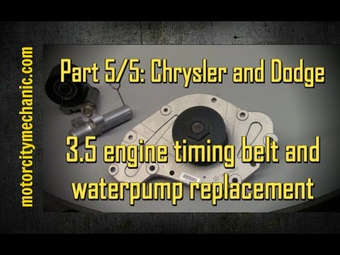 2015 Dodge Magnum >> Part 5/5 2005-2010 Chrysler 300 and Dodge Charger 3.5 timing belt and waterpump - YouTube