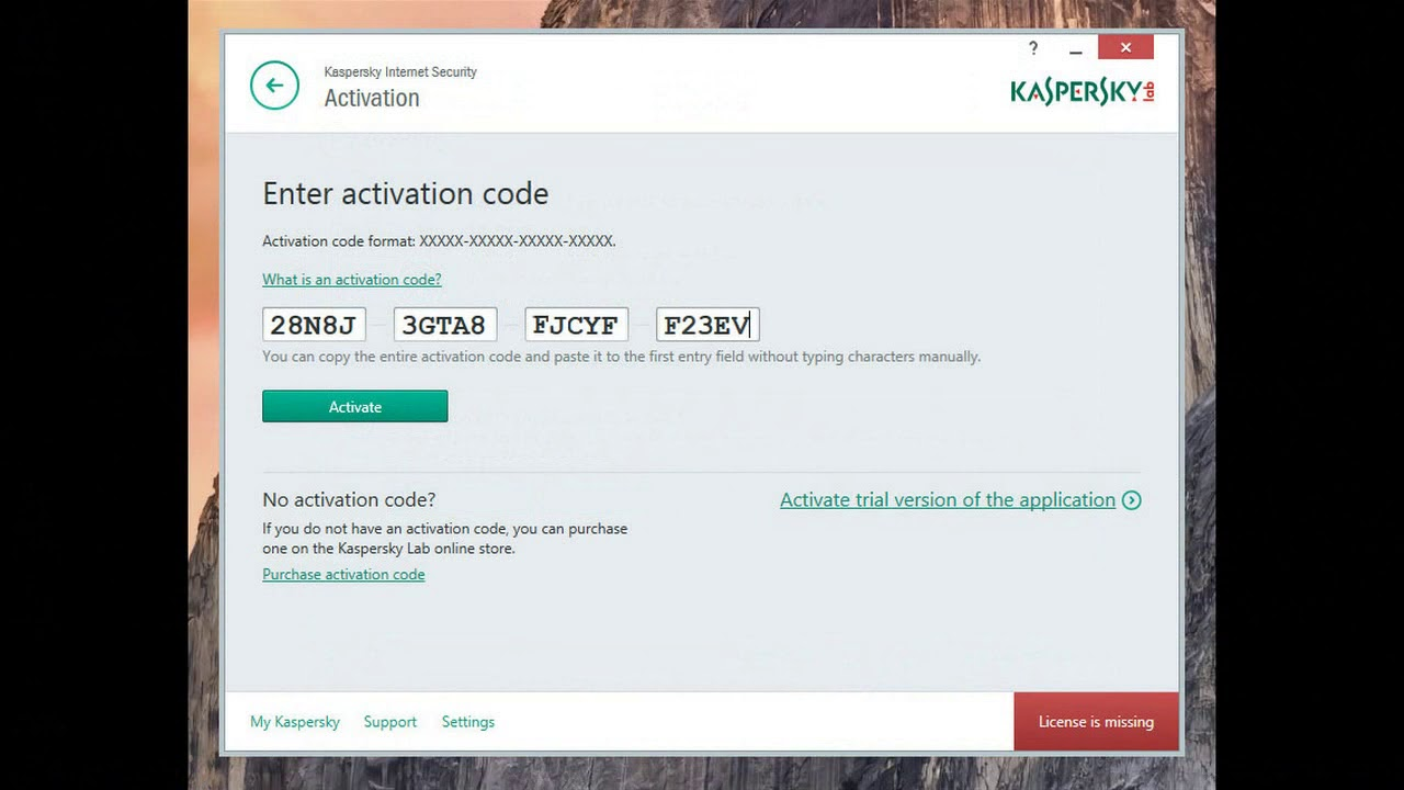 kaspersky serial key free download