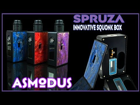 Spruza Innovative 80w Stab Wood Squonk Kit from Asmodus