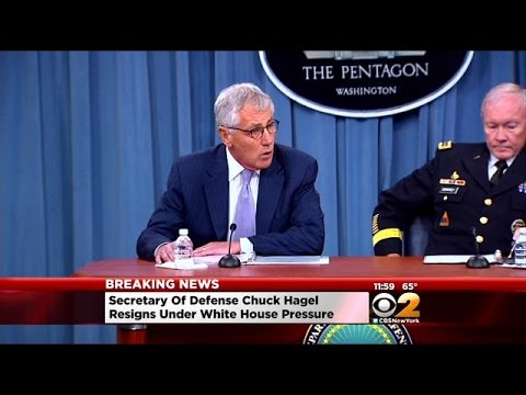 Hagel Steps Down As Pentagon Chief