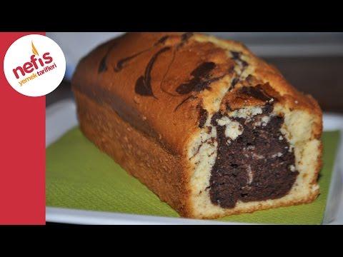 mozaik kek tarifi  yumuşacık kabaran 2 renkli kek tarifi