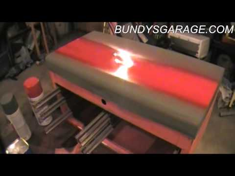 DIY:Painting a Toolbox - Tool Box Refinishing and Restoration - Bundys Garage