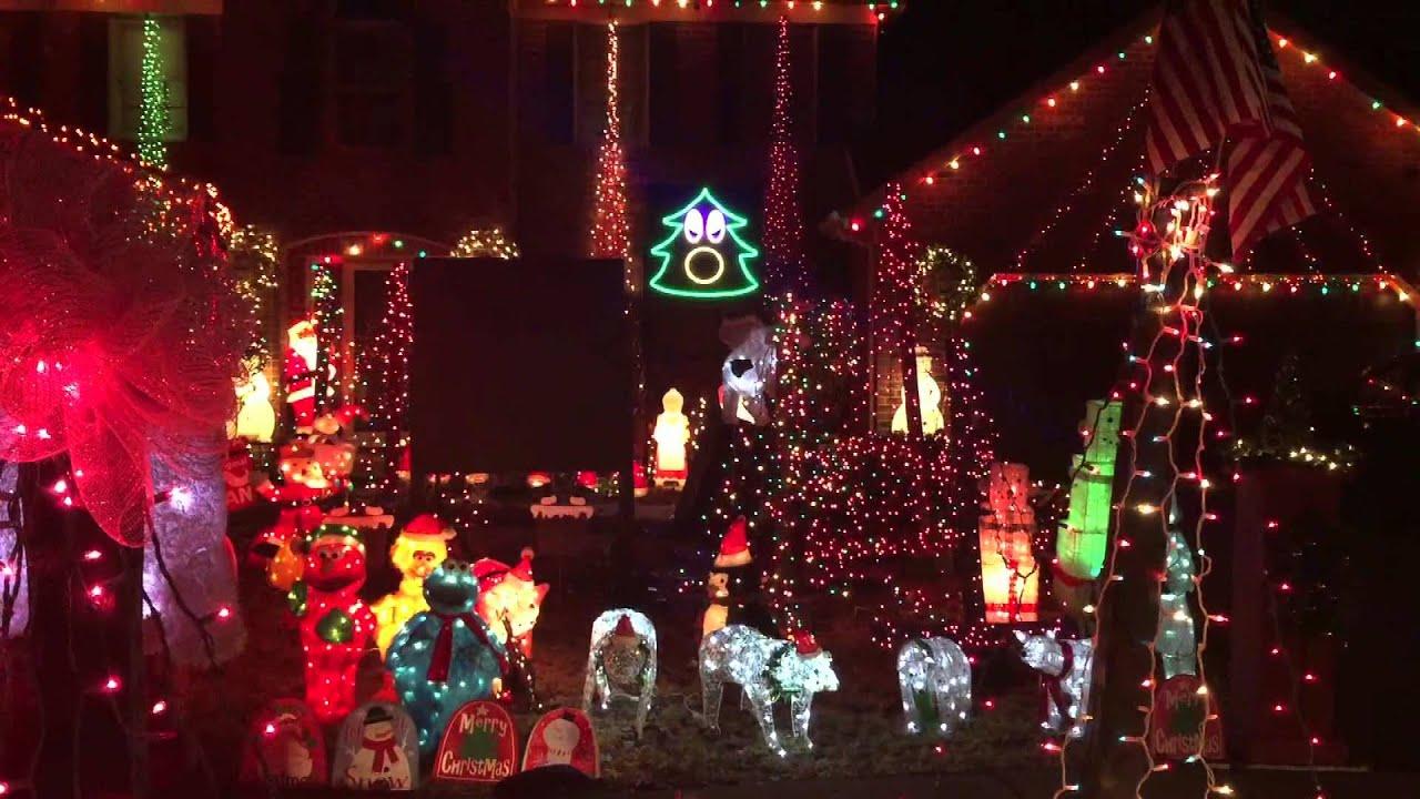 christmas light show frozen mix thomas christmas 2014 naperville il