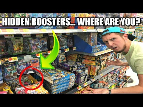 FINDING HIDDEN POKEMON CARDS AT WALMART! Opening Pokemon Ep. 4
