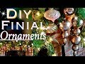 How to Make FINIAL Ornaments | DIY Rose Gold Christmas Decor | Day 10: 25 Days of Christmas