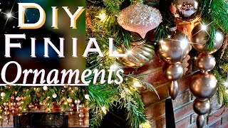How To Make Finial Ornaments Diy Rose Gold Christmas Decor Day 10 25 Days Of Christmas Youtube