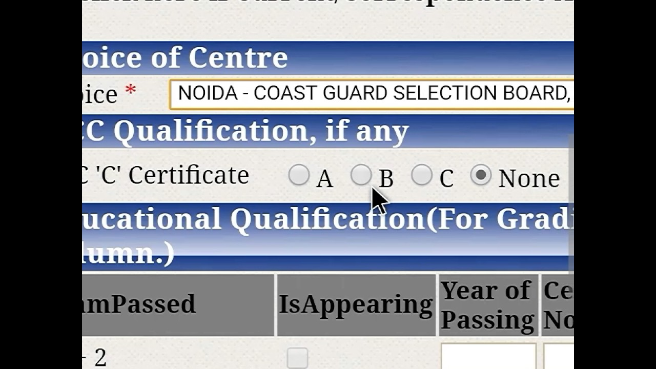 How to fill indian coast guard 2017 apply online for navik posts how to fill indian coast guard 2017 apply online for navik posts apply nda online falaconquin