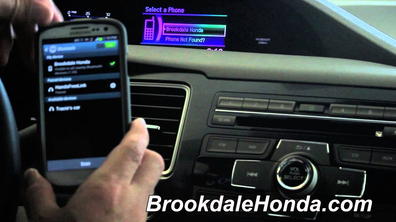2017 Honda Civic Bluetooth Connection On An Android Phone How To By Luther Brookdale