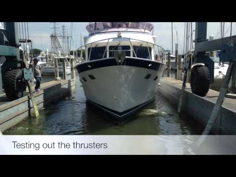 44' Defever Bow Thruster and Stern Thruster Installation