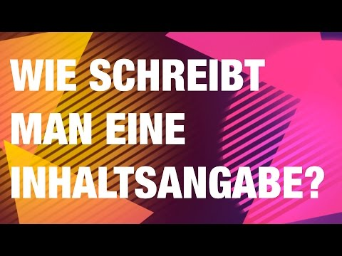 Wie schreibt man eine Inhaltsangabe ? von YouTube · HD · Dauer:  10 Minuten 43 Sekunden  · 64.000+ Aufrufe · hochgeladen am 12.09.2012 · hochgeladen von deutschstundeonline