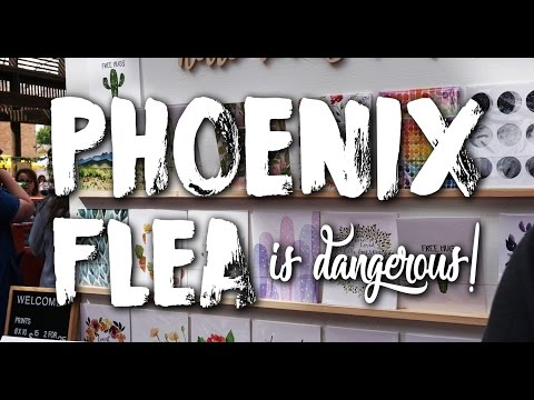Life in Our Airstream - vLog #41 - Girls' Day at the Phoenix Flea