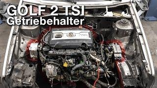 Der Motor hängt! | Getriebehalter anpassen | VW Golf2 2.0 TSI Projekt [G2-10]