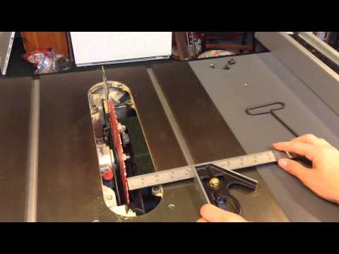 Adjusting the Delta 36-725 table saw