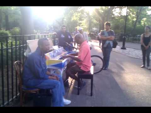 Ragtime Piano in Tompkin Square park new york