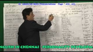 SPOKEN ENGLISH CENTRE IN CHENNAI  ENGLISH AMERICAN WORD PRONUNCIATION PAGE NO. 430 - 431