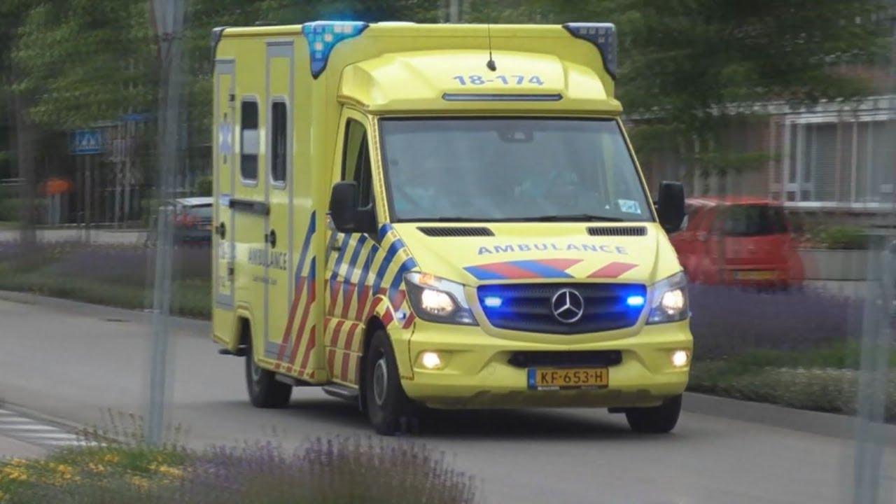A1 Ambulance 18-174 met Spoed naar ''MMT Inzet'' Jan Steenstraat in Sliedrecht