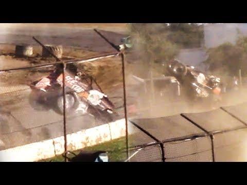 Sprint Car Crash | Genesee Speedway | 9-16-18
