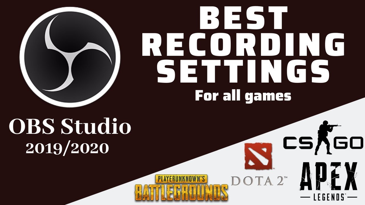 Best Obs Settings For Twitch 2020.Obs Studio 2019 2020 Best Recording Settings 1080p 60 Fps No Lag Obs Latest Update