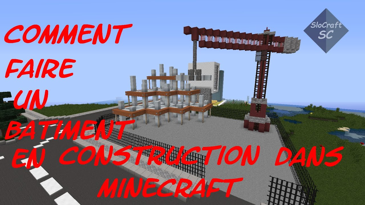 Comment faire un batiment en construction dans minecraft youtube - Comment faire un chalet dans minecraft ...