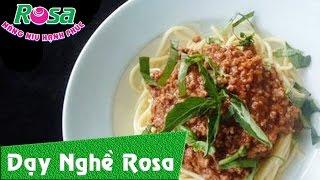 Mì Ý sốt Bò bằm - Spaghetti sauce with beef