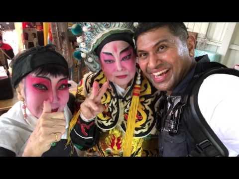 Backstage Wayang Chinese opera performers