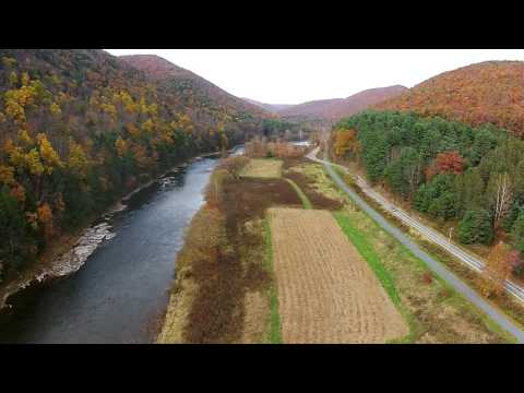 DJI Phantom video above Pine Creek in PA fall colors 1080p
