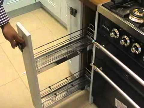 Diy Kitchens 150mm Pull Out Wire Basket Unit Youtube