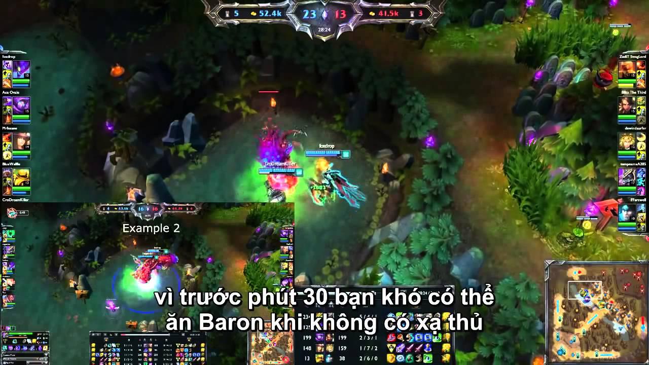 Mẹo nhỏ chia người ăn Baron trong Liên Minh Huyền Thoại [FoxDrop] - YouTube
