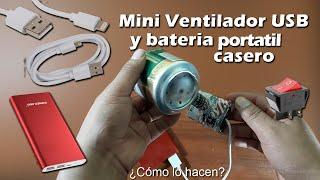 Cómo hacer un increíble mini ventilador USB con motor DC y latas de aluminio
