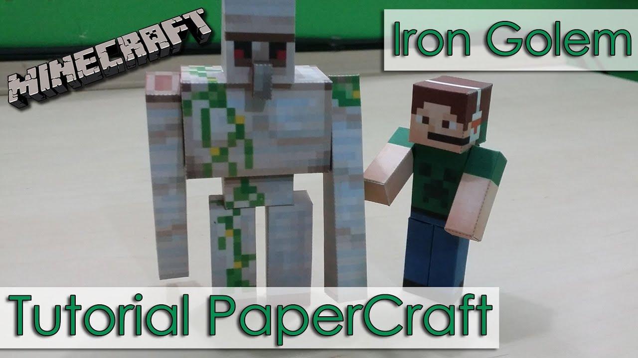 Papercraft Tutorial PaperCraft Minecraft - Golem de Ferro / Iron Golem