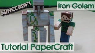 Tutorial PaperCraft Minecraft - Golem de Ferro / Iron Golem