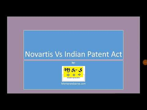 Novartis Vs Indian Patent Act