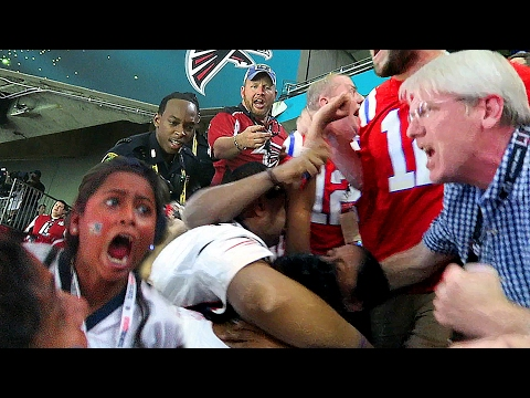 FIGHT BREAKS OUT AT SUPER BOWL 51!!