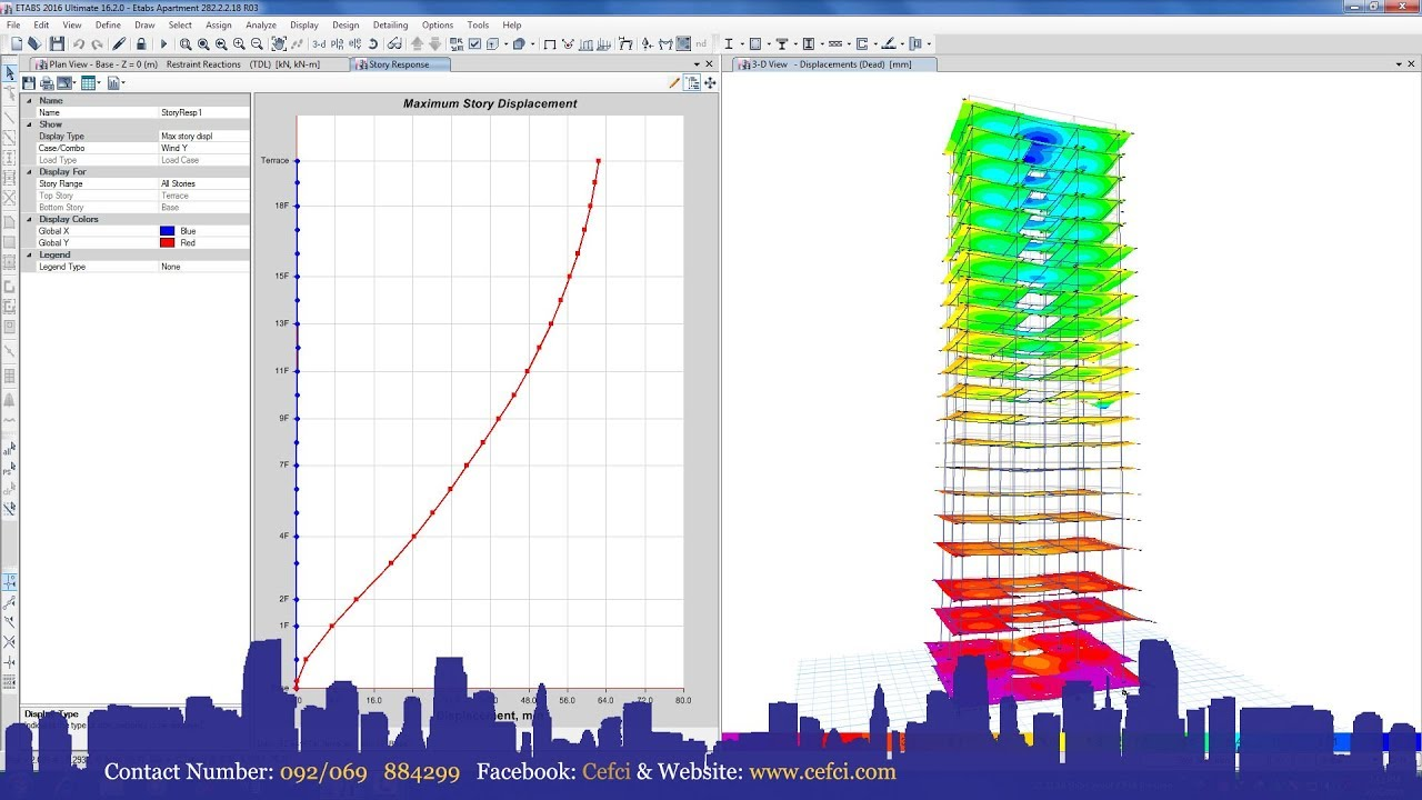 Etabs 2016 Analysis of Concrete Frame Building Structure - YouTube