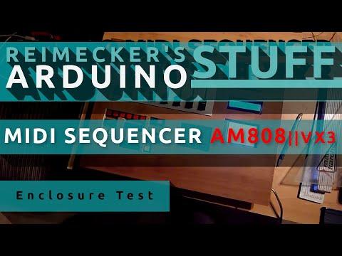 Arduino Midi Sequencer AM808 VX3 - First Enclosure Test