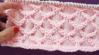Download Video Petek Örgü / Diamond Honeycomb Stitch Knitting MP3 3GP MP4