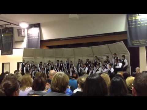 Ben back center w Valley Oak Broncos choir