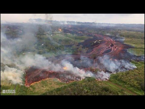 Aumentam fissuras e lava de vulcão no Havaí