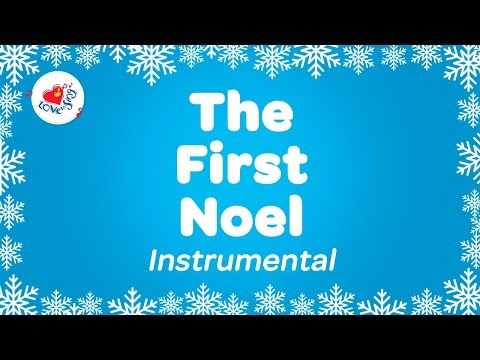 The First Noel Christmas Instrumental Music with Karaoke Lyrics