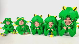 Five Kids Song about Frog | Guess the Animal | Nursery Rhymes
