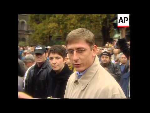 Anti Nazi demo and PM bites on Arrow Cross anniversary