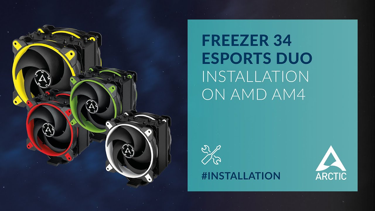 ARCTIC Freezer 34 eSports DUO - Installation on AMD AM4